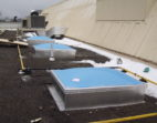 Dome skylights with with aluminum curbs