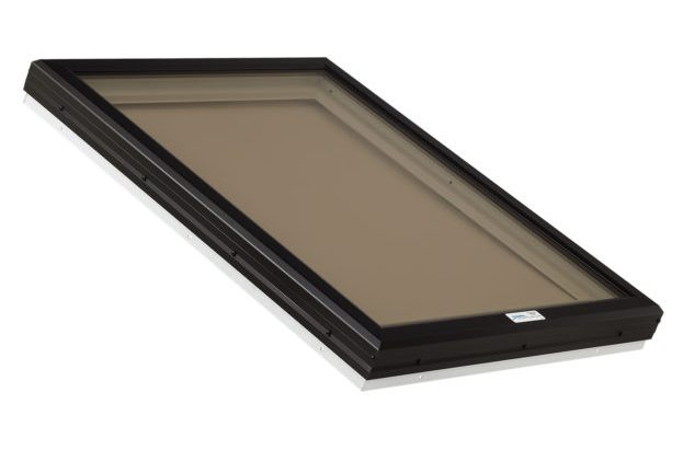 bronze glass skylight with pvc frame