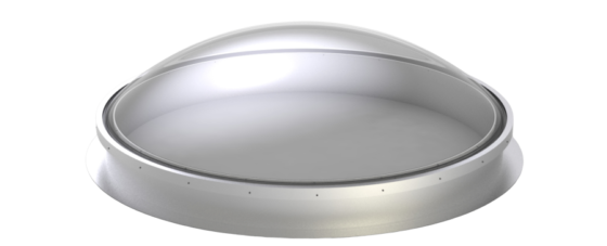 Circular Dome Skylight with Aluminum Curb