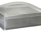 Aluminum Curb with Frost Free Skylight with Clear Acrylic Domes