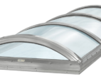 Continuous Barrel Vault Skylight with Clear Acrylic Domes