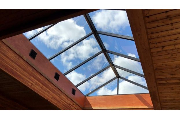 Pyramid Continuous Architectural Structural Glass Skylight with Gable End