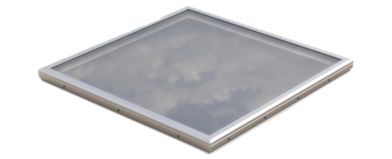 Glass Skylight with Frost Free Curb Frame