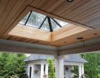 Architectural Glass Pyramid Ridge Skylight with Frost Free Frame