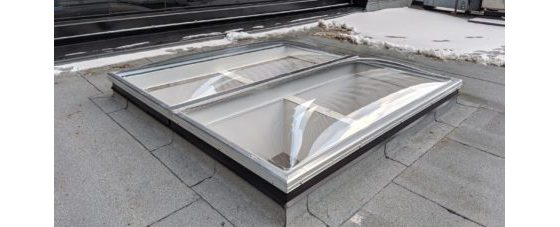 Clear Acrylic Butted Domes on Flat Roof