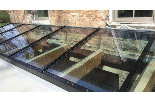 Exterior View of a Lean to skylight