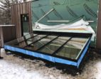 Butted Lean To Glass Skylight with a Frost Free Frame
