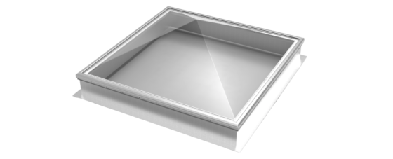 Thermoformed Acrylic Pyramid Skylight on Aluminum Curbs