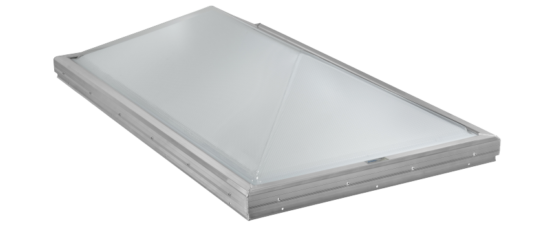 Thermoformed Prismatic Ridge Skylight with Frost Free Frames