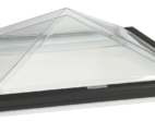 Thermoformed Acrylic Pyramid Skylight with PVC Curb Frame