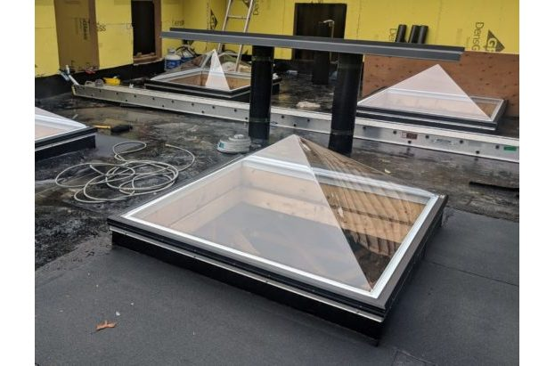 Thermoformed Acrylic Pyramid Skylight