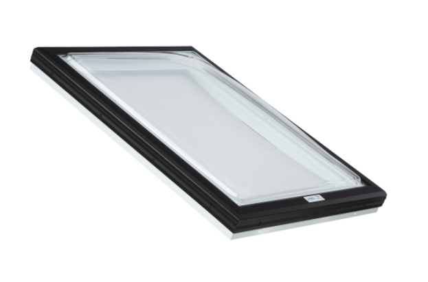 Skylight with Clear Acrylic Domes and PVC Curb Frame