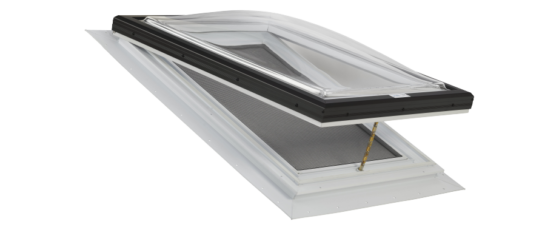 Operable Clear Acrylic Dome Venting Skylight with PVC Self Flashing Flange
