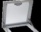 Opened Access Hatch Skylight