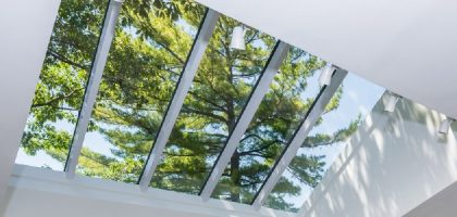 A skylight can be an ideal home accent or a refreshing office feature